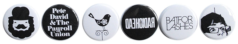 Black and white badge selection